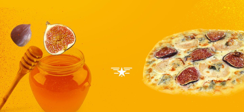 Pizzas sucrées salées